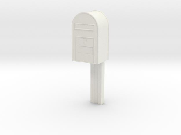 1/22,5 - Post Danmark - Postkasse på stang in White Natural Versatile Plastic
