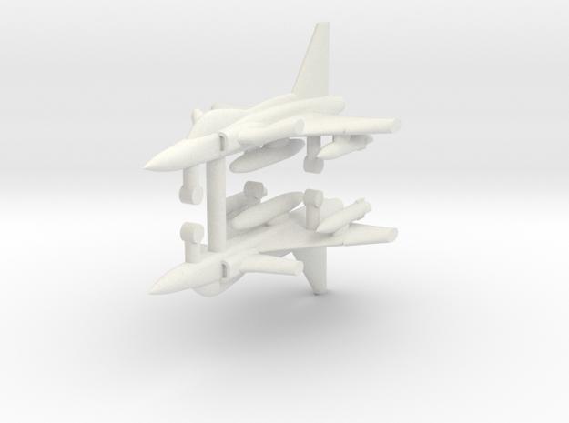 1/285 SAAB JAS 39 Gripen (x2) in White Natural Versatile Plastic