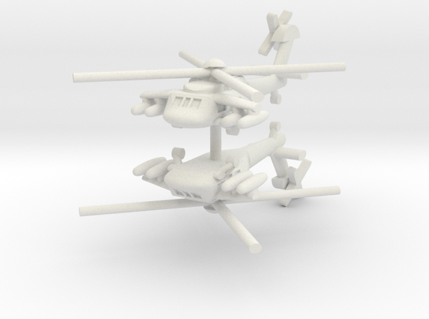 1/285 UH-60L Blackhawk with Fuel Pods (x2) in White Natural Versatile Plastic