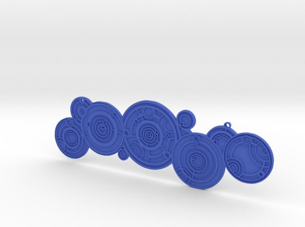 Doctors Name 15cm Strong Flexible Plastic in Blue Processed Versatile Plastic