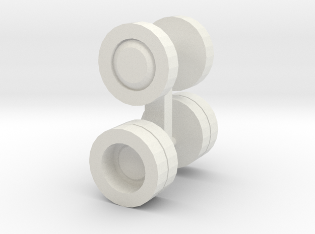 ho scale bus wheels in White Natural Versatile Plastic