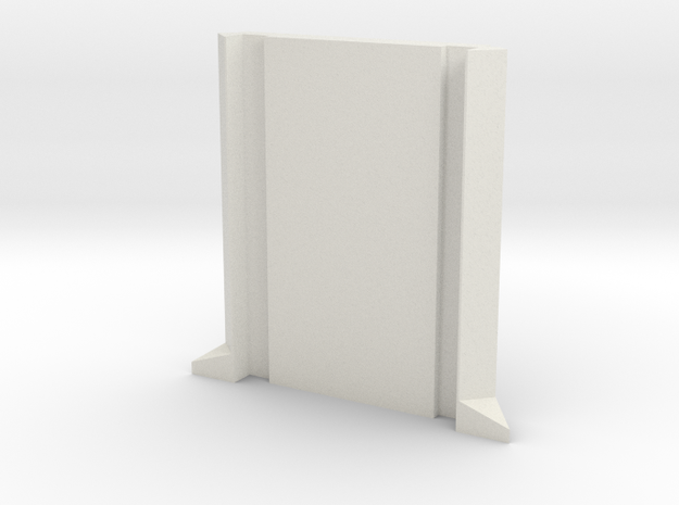 SciFi Pillar and Walls - Basic Pillar in White Natural Versatile Plastic