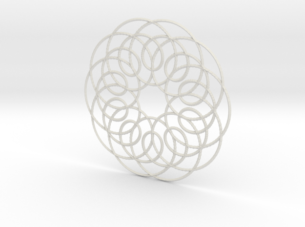 Spirograph01 in White Strong & Flexible