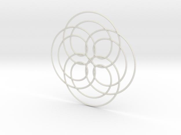 Spirograph02 in White Natural Versatile Plastic
