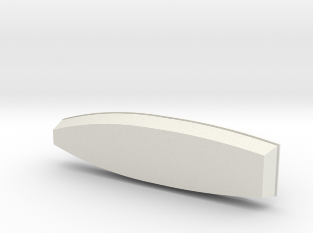 1/56th small wooden boat in White Natural Versatile Plastic