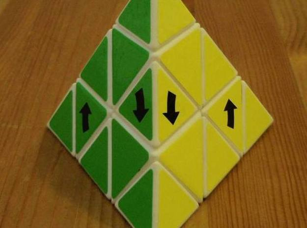 Latch Pyraminx in White Strong & Flexible