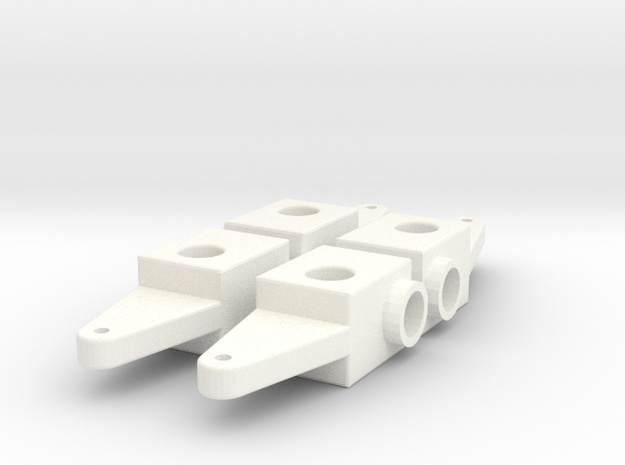 SPINDLE FOR USE WITH CUSTOM FRONT ENDS X4 in White Processed Versatile Plastic