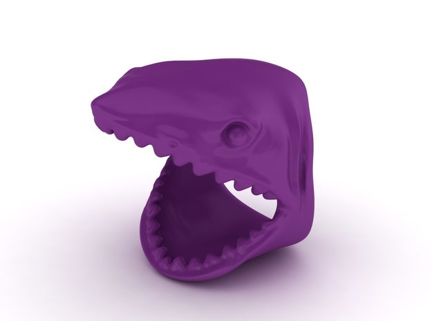 shark ring size 10 3d printed shark ring size 10