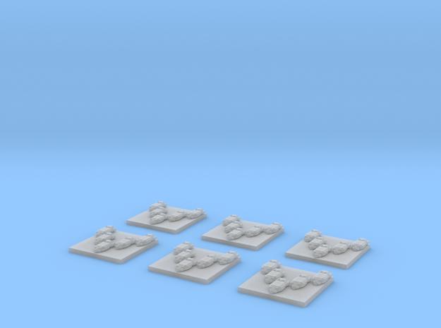 """Turanic Raider """"Bandit"""" Interceptors (6) 3d printed"""