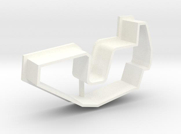 "Cookie Cutter ""Break Dance"" - just shape in White Processed Versatile Plastic"