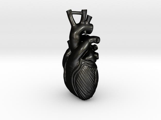 Anatomical Heart Pendant 3d printed