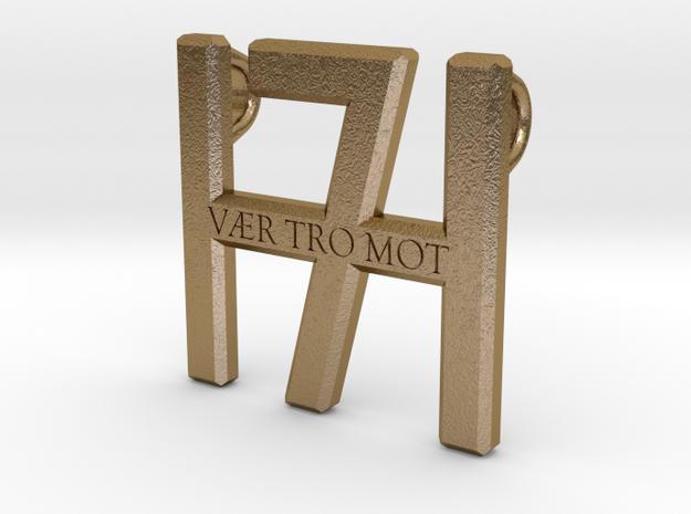 Smykke - Vær tro mot H7 vedhæng (stor) in Polished Gold Steel