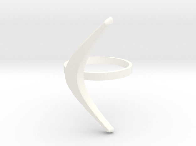 boomerang ring in White Processed Versatile Plastic