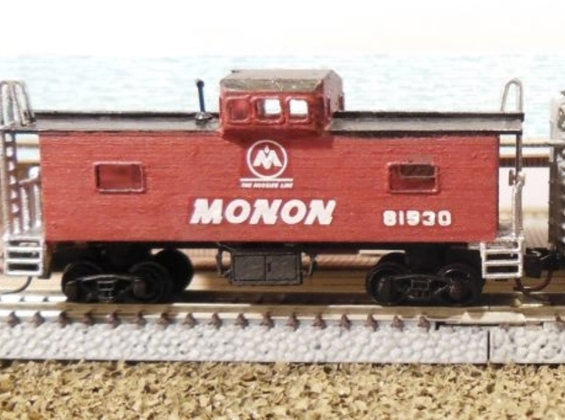 Monon Caboose - Zscale in Smooth Fine Detail Plastic