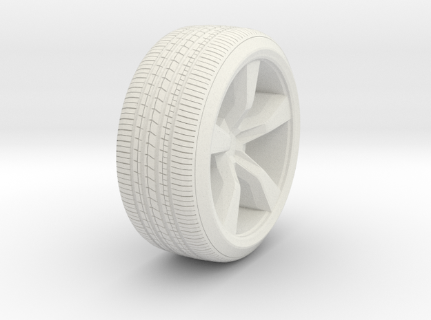 ~ 1/87 Camaro Wheel in White Natural Versatile Plastic