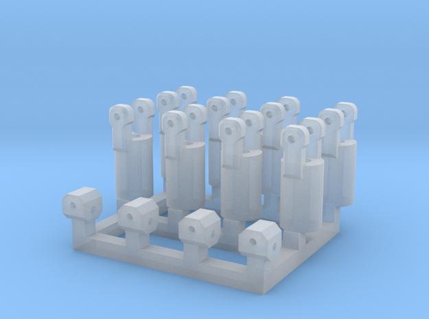 4x Kardangelenk in Smooth Fine Detail Plastic