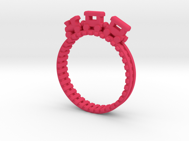 Train Nr3 Ring in Pink Strong & Flexible Polished