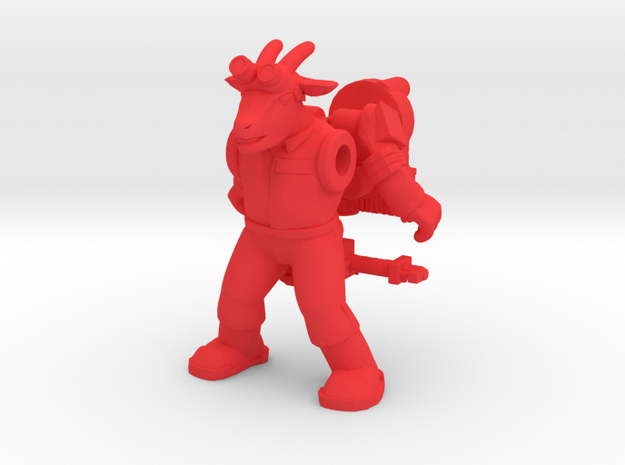 Bray Ghoatbuster Figure (plastic) in Red Processed Versatile Plastic