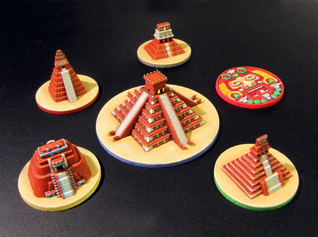 Mayan Pyramids and Calendar center (6 pcs)