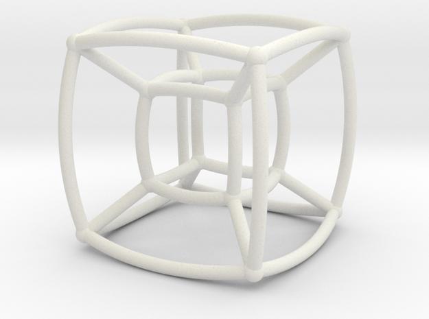 Reuleaux Hypercube in White Natural Versatile Plastic