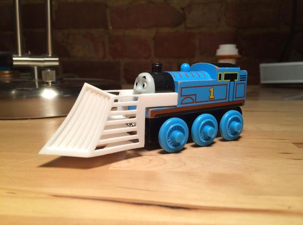 Snowplow compatible with Thomas the Tank engine. in White Natural Versatile Plastic