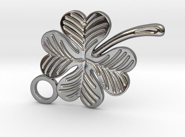 Clover v2 in Fine Detail Polished Silver