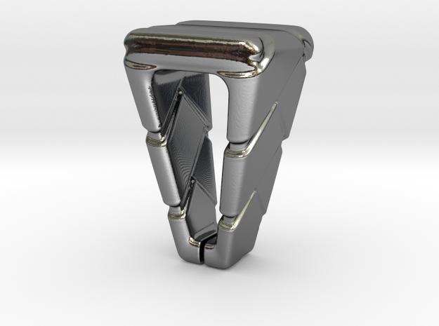 Pendant Holder in Fine Detail Polished Silver