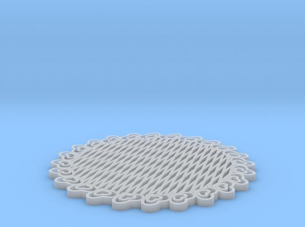 Third Scale Thinner Heart Lattice Dessert Platter 3d printed