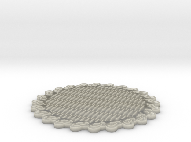 Third Scale Thinner Heart Lattice Dessert Platter 3d printed