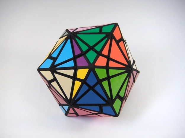Fractured Cube Puzzle 3d printed One Turn