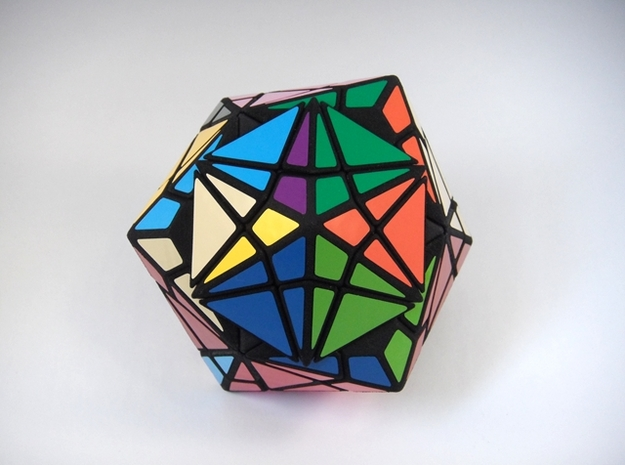 Fractured Cube Puzzle 3d printed Mid-Turn