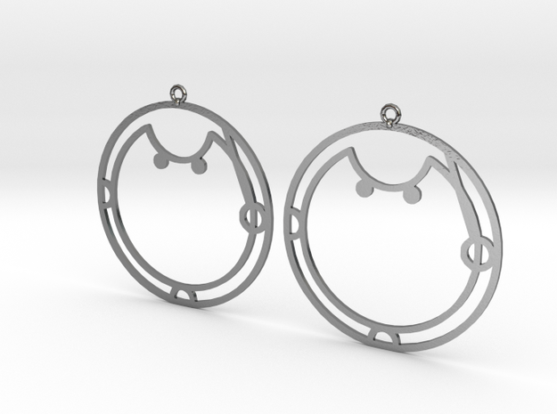 Aisha - Earrings - Series 1 in Polished Silver
