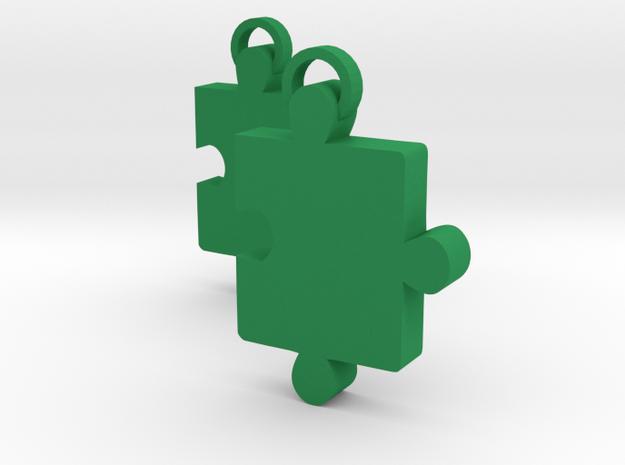 Jigsaw in Green Processed Versatile Plastic