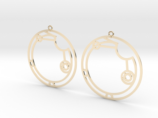 Alicia / Alisia - Earrings - Series 1 in 14K Yellow Gold