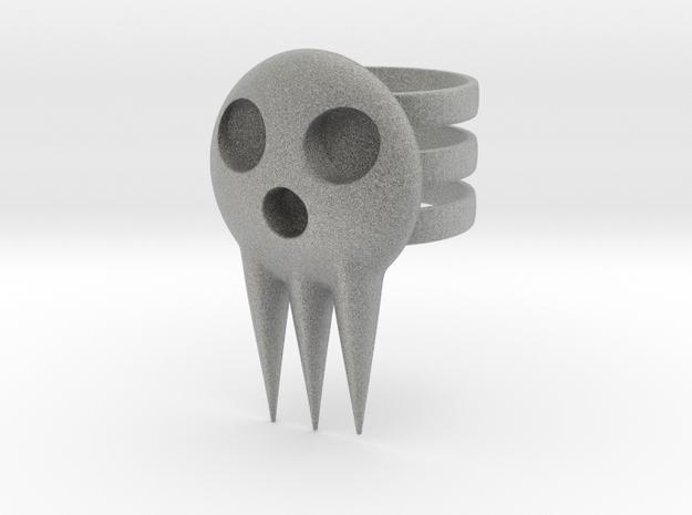 Death Jr Ring in Metallic Plastic