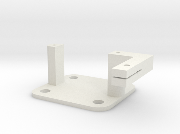 SG90 Servo Mount - Type 3 in White Strong & Flexible