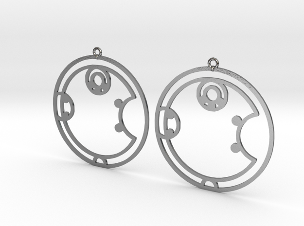Ashley - Earrings - Series 1 in Polished Silver