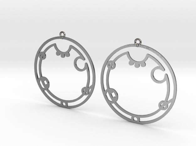 Aubrey - Earrings - Series 1 in Polished Silver