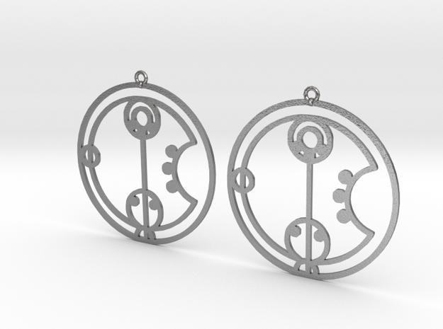 Charlie - Earrings - Series 1 in Natural Silver