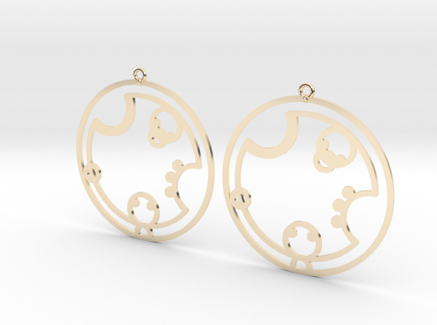 Charlotte - Earrings - Series 1 in 14K Yellow Gold