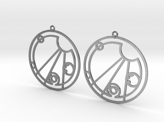 Chelsea - Earrings - Series 1 in Polished Silver