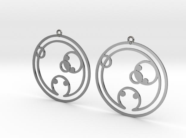Chloe - Earrings - Series 1 in Fine Detail Polished Silver