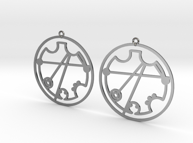 Christine - Earrings - Series 1 in Fine Detail Polished Silver