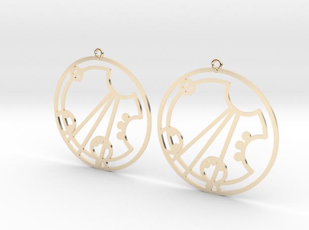 Darcey / Darsey - Earrings - Series 1 in 14K Yellow Gold