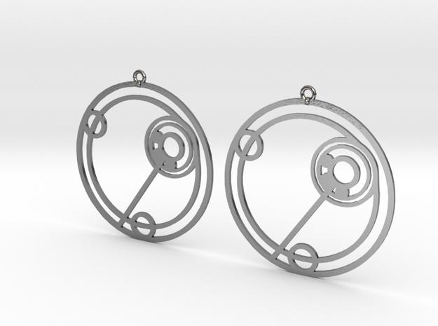 Ellie - Earrings - Series 1 in Polished Silver
