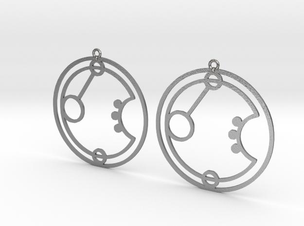 Erin - Earrings - Series 1 in Natural Silver