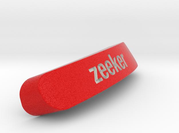 Zeeker Nameplate for SteelSeries Rival in Full Color Sandstone