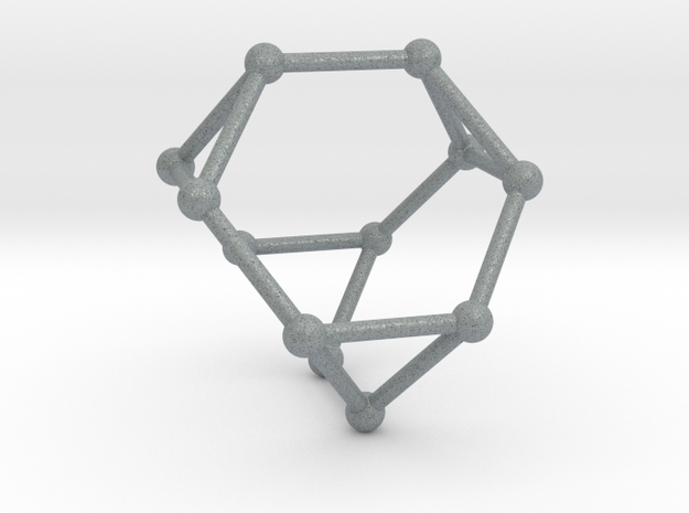 Truncated Tetrahedron in Polished Metallic Plastic