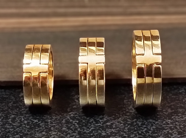 (USA) 6 Cross - Multiple Sizes in Polished Brass