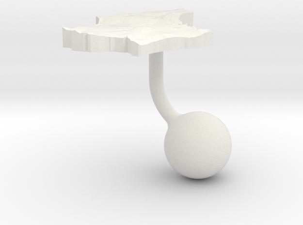 Luxembourg Terrain Cufflink - Ball in White Natural Versatile Plastic